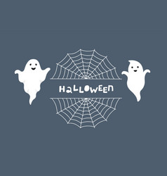 halloween greeting card night background vector image