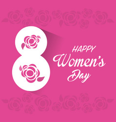 Happy women day cards icon vector