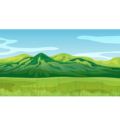 High mountains vector image