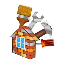 Home repair with tool vector