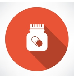 Jar of pills icon vector