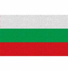 knitted Bulgarian flag vector image