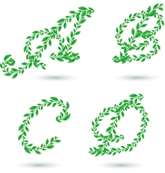 leaf text a d vector image