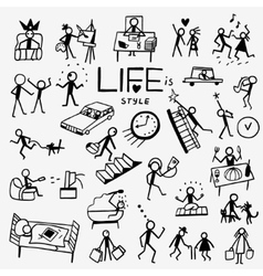 Life style doodles vector
