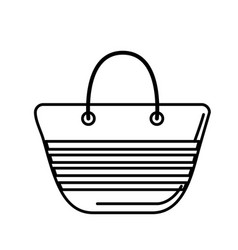 Line fashion purse to be in the beach vector