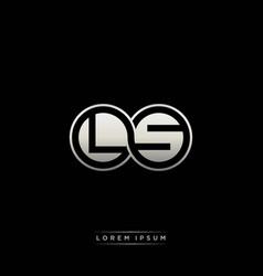 Ls initial letter linked circle capital monogram vector