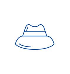 mens hat line icon concept mens hat flat vector image