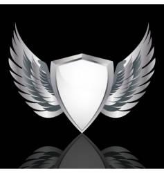 metallic shield vector image
