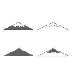 Mountset of monochrome forms of mountains vector