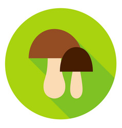 mushrooms circle icon vector image vector image
