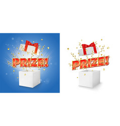 Prize gift box concept for banner poster vector