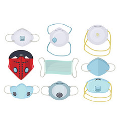 protection mask protective medical respiratory vector image