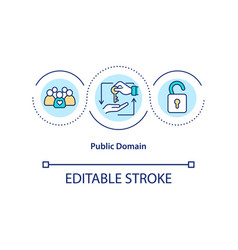 Public domain concept icon vector