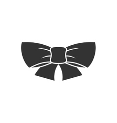 Ribbon bow icon vector image