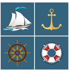 Sailboat and Ship Equipment vector image