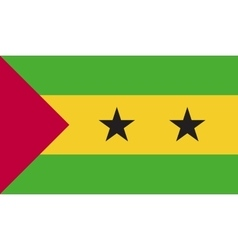 Sao Tome and Principe flag image vector image
