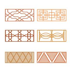 set of different fence design vector image