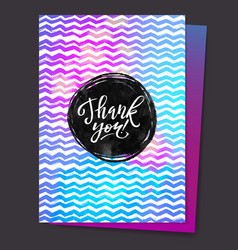 Shine Paint Stain Zigzag Thank You Card Circle vector