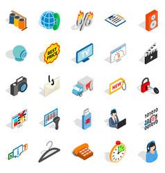 shop icons set isometric style vector image