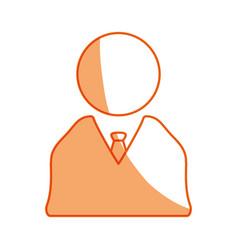 Silhouette businessman icon design symbol vector