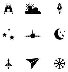 sky icon set vector image