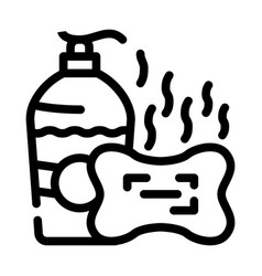 Soap smell line icon line vector