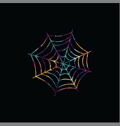 spiderweb abstract colorful triangle geometrical vector image