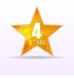 Star background anniversary 4 vector image