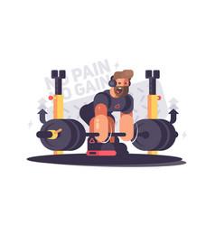 Strong athlete deadlift vector