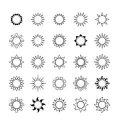 Sun set icon isolated vector