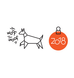 symbol of new year dog vector image