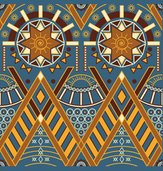 Tribal multicolor seamless pattern with vector