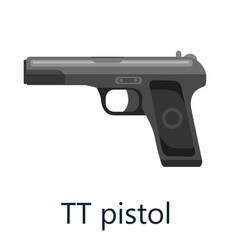 tt pistol gun military handgun weapon firearm vector image
