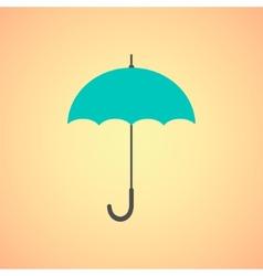 umbrella icon on orange background vector image