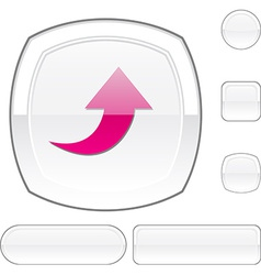 Upload white button vector image