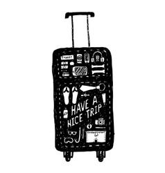 Vacation bag vector