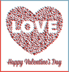 Valentine heart in three dimensional style vector