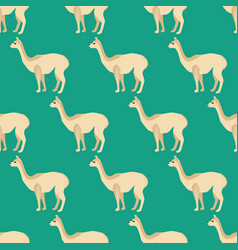 Vicuna seamless pattern vector