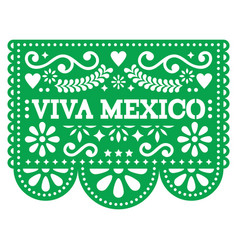 Viva mexico papel picado design - mexican vector