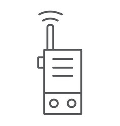walkie talkie thin line icon security and vector image