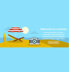 Welcome to summer banner horizontal concept vector