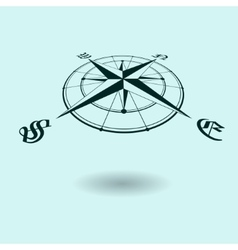 Wind rose perspective vector image