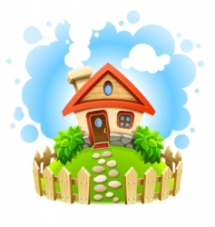 fairytale house vector image vector image