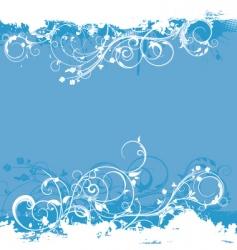 floral grunge design vector image vector image