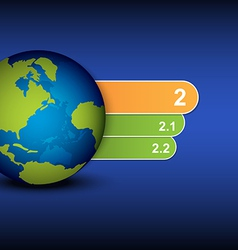 globe and menu tab design vector image vector image