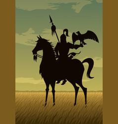 mongol warrior vector image vector image