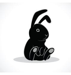 Rabbit black vector