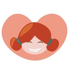 ginger lovely girl vector image vector image