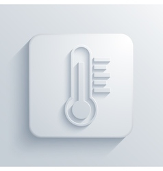 modern thermometer light icon vector image