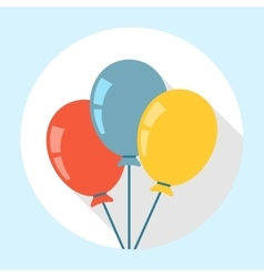 Balloons Icon Flat vector image